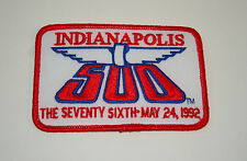 1992 76th Indy Indianapolis 500 Race Car Racing Cloth Jacket Patch New NOS