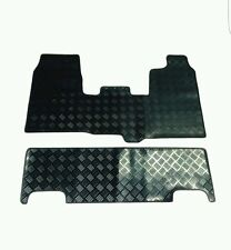 FORD TRANSIT CUSTOM DOUBLE CAB (2015-2016(65) BLACK RUBBER FLOOR MATS TWIN DOORS