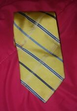 NAUTICA neck tie Yellow with blue stripes NICE