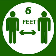 Social Distance  6 FEET  sign Vinyl Decal for Office Cube Receptionist Desk 5