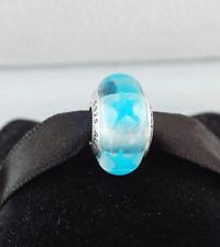 Genuine Pandora Murano Glass Bead Blue Star 790905 - retired