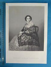 Fine Original 1859 Antique Engraving Print Madame Miolan-Carvalho Opera Soprano