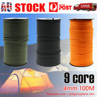100m 550 Paracord Parachute Cord Lanyard Mil Spec Type III 9 Strand Core Rope AU