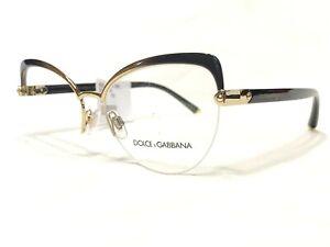 NEW Dolce & Gabbana DG1305 1322 Women's Gold Cat's Eye Rx Eyeglass Frames 55/16