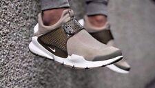 Nike SOCK DART taglia UK 9 EU 44 Scarpe da ginnastica Uomo Marrone Beige Cachi Bianco Run