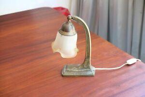 vintage art nouveau deco table  lamp