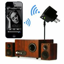 Bluetooth Wireless 3.5mm Audio Music Receiver Adapter & US Plug USB Wall Charger