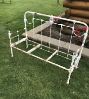 Antique French Style Cast Iron Metal Bench Outdoor Indoor
