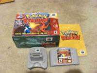 Pokemon Stadium 1 (Nintendo 64, N64) Authentic -- Complete in Box -- see pics