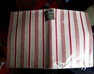 Samuel Lamont Red Striped Cotton Placemats Set of 4 Scandinavian Chic Christmas