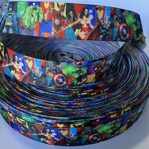YARD MARVEL DC SUPERHERO HULK WONDERWOMAN THOR BATMAN GROSGRAIN RIBBON CHARACTER