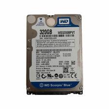 """320GB WESTERN DIGITAL WD3200BPVT  2.5"""" HDD SATA 7200 RPM LAPTOP HARD DRIVE"""