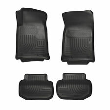 HUSKY 98121 WeatherBeater Front Rear Black Floor Mats for 10-15 Chevrolet Camaro