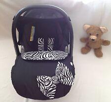 Cubierta de asiento de coche de bebé saco Cebra arco manta mandil negro blanco arnés cubre