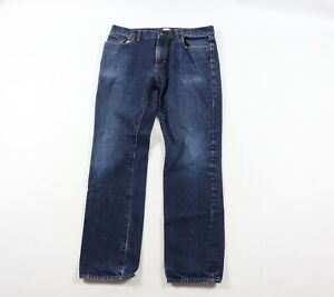 J Crew Mens 34x32 Urban Slim Fit Casual Denim Jeans Pants Blue Wash Cotton