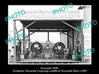 OLD LARGE HISTORIC PHOTO OF NEWCASTLE NSW THE CORMACKS COOPERAGE DISPLAY c1905