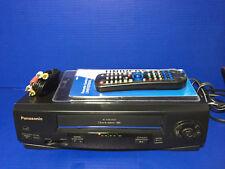 Panasonic OmniVision PV-V402 VHS VCR 4 Head Video Cassette Recorder Player
