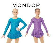 MONDOR NEW Purple or Blue Peony Shimmery Figure Skating Competition Dress