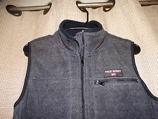 RALPH LAUREN POLO SPORT womens sz small gray fleece full zip vest jacket