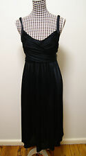 FOREVER NEW DRESS BLACK ANNABELLE SASH TIE DRESS, Sz 6 (ALSO FIT 8) RRP $89