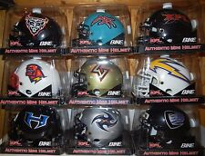 LOT OF (9) BIKE XFL FOOTBALL MINI HELMETS SET NEW IN PACKAGE INAUGURAL TEAMS