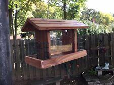 New listing Beautifully HandMade combination Red Cedar Bird Feeder With Double suet holder