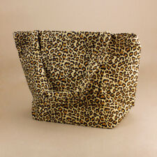 Leopard Print Large Tote Bag Beach Reusable Shopping Nappy Bag Picnic Rainbow