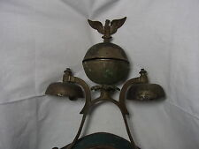 Antique German Carriage Sleigh Parade Show Horse Triple Bell with Eagle #V