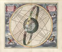 ANTIQUE LATIN STAR CONSTELLATION ZODIAC MAP 8X10 PRINT 28012007953
