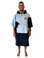 Blue Beach Changing Robe Poncho Adult Extra-Large Large Medium Small