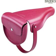 BROOKS SADDLES BAG VICTORIA HANDMADE LEATHER HANDBAG BNWT RASPBERRY SADDLEBAG