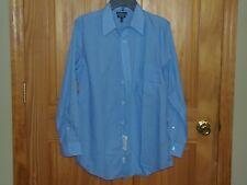 CROFT & BARROW - MEN - DRESS SHIRT - BLUE - SIZE 15 (32-33)      (CF-16-74)