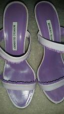 CLEAN Manolo Blahnik Lavender Purple  Slide Size 38.5