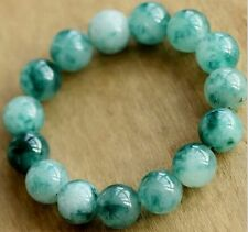 """7"""" 10mm specialty natural Amazonite Interfax evil Lucky jade beads Bracelets"""