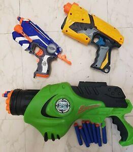 Job Lot 3 Pieces NERF Guns Dart Tag, N-Strike Elite, Sidewinder Play Toys Boys