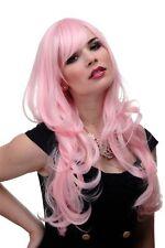 Perruque pour Femme Rose Rouge Clair Ondulés Frange Longue Lisse 285-T2333 65c