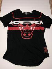 NBA Chicago Bulls Shirt Vintage Nineteen 66 Patch Black Sz Large