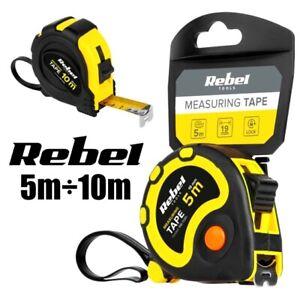 REBEL® Bandmaß 5m oder 10m / Rollmaßband Messband Maßband Rollmeter m. Rücklauf