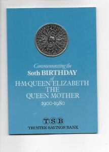 CROWN COIN 1980 ELIZABETH II QUEEN MOTHER 80TH BIRTHDAY ISSUED BY TSB BANK