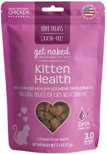 Get Naked 1 Pouch Kitten Health Soft Treats, 2.5 Oz (DHA Omega-3)