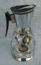 Vintage Serve-Master Colony 12 cup Coffee Carafe Server Warmer Silver Leaves