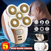 US 5 Head Electric Razor Bald Beard Men's Hair Trimmer Remover Clipper Shaver