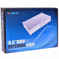 SATA 3.5 Hard Disk Drive Aluminum USB 2 External Case Windows 10 up to 4TB HDD35