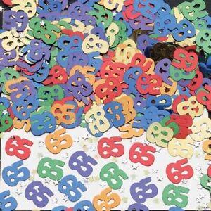 14 G Numero 65 Metallico Coriandoli Festa Accessorio, Multicolore