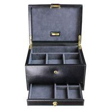 Dulwich Designs Leather Heritage Black 3 Piece Watch & Cufflink Box