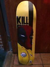 Kill Bill Deadpool Hand Painted Skateboard (No Griptape Attached)