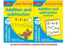 KS1 MATHS  ADDITION SUBTRACTION AGES 5-7 FUN LEARNING EASY GRAPHICAL WAY 2 BOOKS