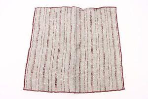 NWT Brunello Cucinelli Men's Striped Print Pocket Square  A176