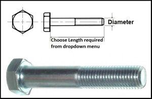 M8 Grade 8.8 High Tensile Part Threaded Bolts Zinc Plated Hexagon Head Bolts