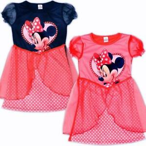 Disney Minnie Mouse Girls Dresses Fancy Dress up Costume Ages 3 4 5 6 years